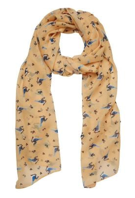 Erstwilder Woodland The Blue Jay Way Large Neck Scarf