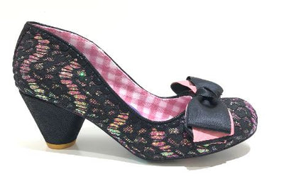 Irregular Choice Slinky Dink Black Lace