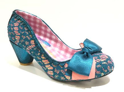 Irregular Choice Slinky Dink Turquoise Lace