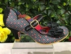 Irregular Choice Summer Breeze Black Gingham