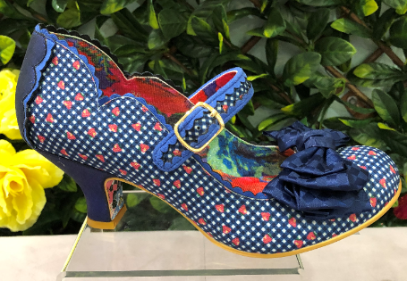 Irregular Choice Summer Breeze Blue Gingham