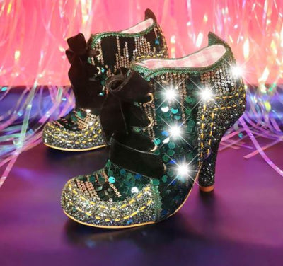 Irregular Choice Party Winter Party Green
