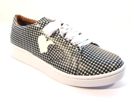 Cristofoli Allie Black Houndstooth