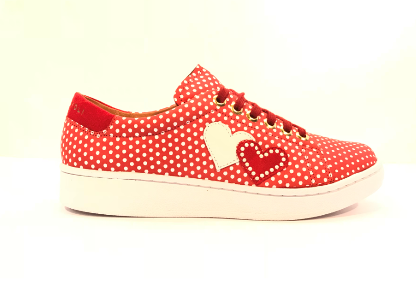 Cristofoli Allie Sneaker Red Polka Dot