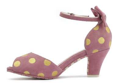 Lola Ramona Ava Sandal Baby Pink with Yellow Dots