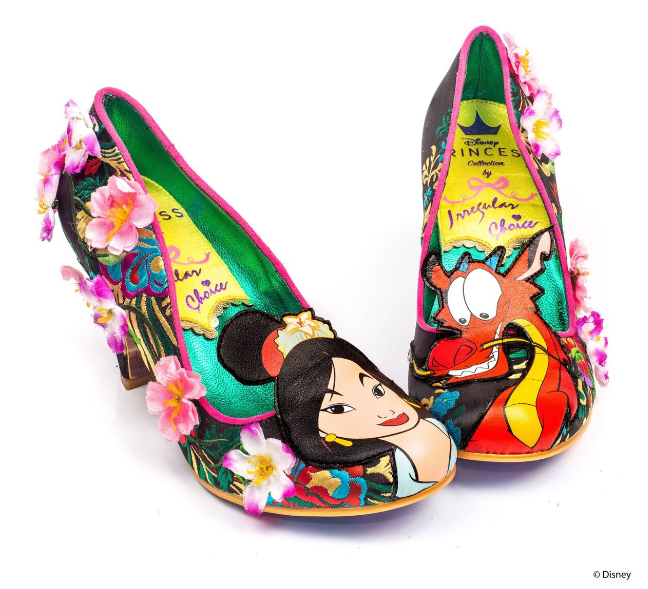 Irregular Choice Mulan Let Dreams Blossom Black
