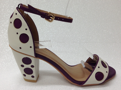 Brazilio Bridget White with Purple Dots