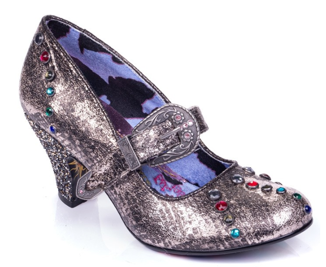 Irregular Choice Buckle Down Pewter
