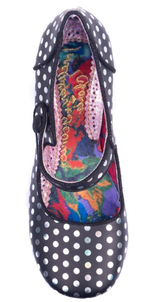 Irregular Choice Dotty For You Black