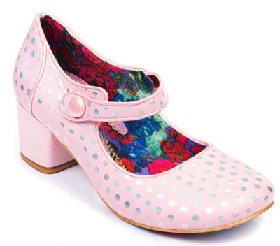 Irregular Choice Dotty For You Pink
