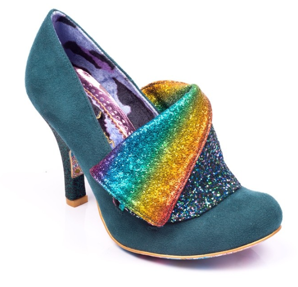 Irregular Choice Flick Flack Green Rainbow