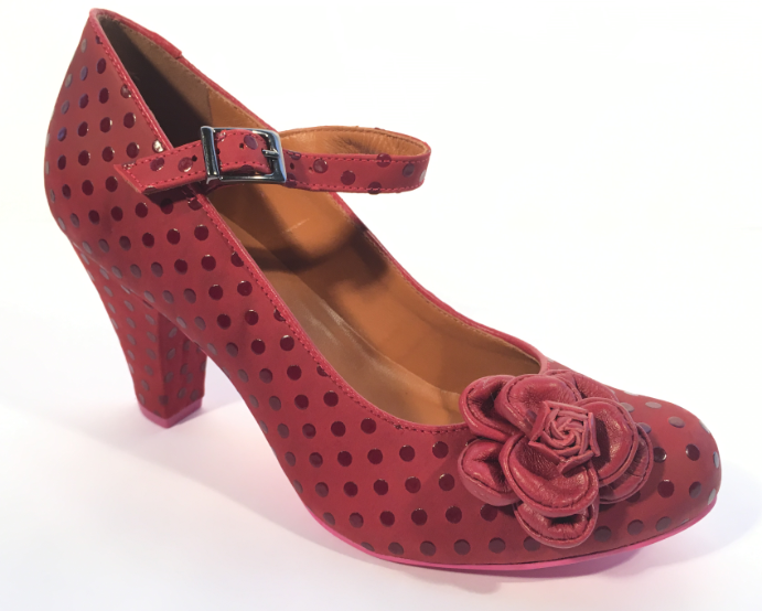 Cristofoli Juliet Antique Red Polka Dot