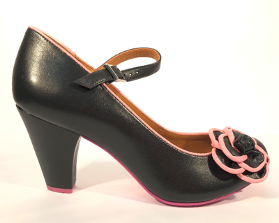 Cristofoli Juliet Black with Pink Trim