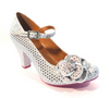 Cristofoli Juliet Soft Grey with Silver Polka Dots