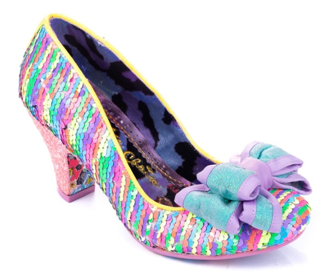 Irregular Choice Lady Ban Joe Pink Multi Sequin