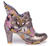 Irregular Choice Miaow Silver Floral