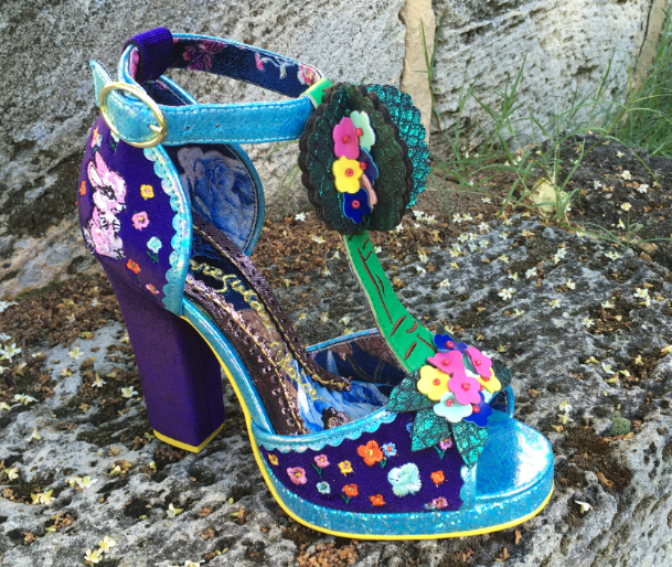Irregular Choice May Meadow Navy Blue