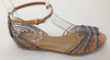 Brazilio Beige Multi Strappy Sandal with ankle strap