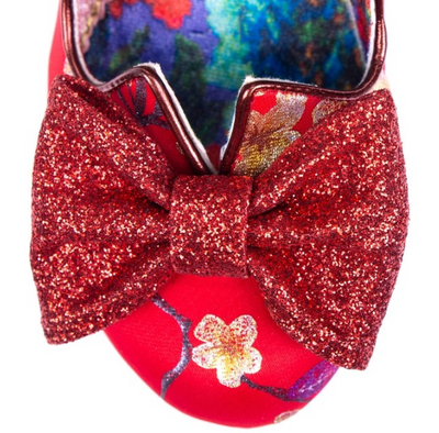 Irregular Choice Nick of Time Red Floral