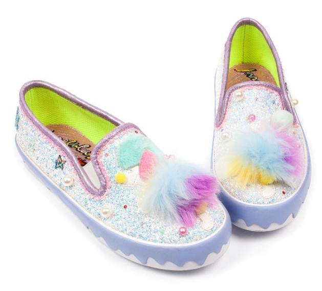 Irregular Choice Pom Pom Poodle White