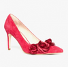 Alannah Hill Rosette Day Heels Rasberry