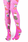 Irregular Choice Tights Christmas Pink