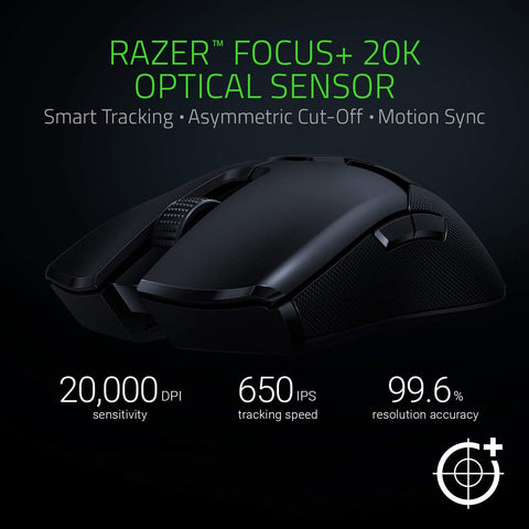 Razer Viper Ultimate Hyperspeed Ambidextrous Wireless Gaming Mouse & RGB Charging Dock
