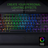 Razer BlackWidow TE Chroma v2 Mechanical Gaming Keyboard: Yellow Key Switches - Linear & Silent - Chroma RGB Lighting - Magnetic Wrist Rest - Programmable Macro Functionality - Classic Black