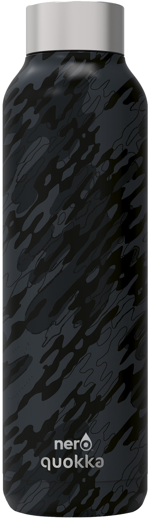NERO Quokka Black Camouflage Stainless Steel Water Bottle 21 oz