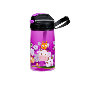 NERO Emma Junior Purple Water Bottle 15 oz with Pouch