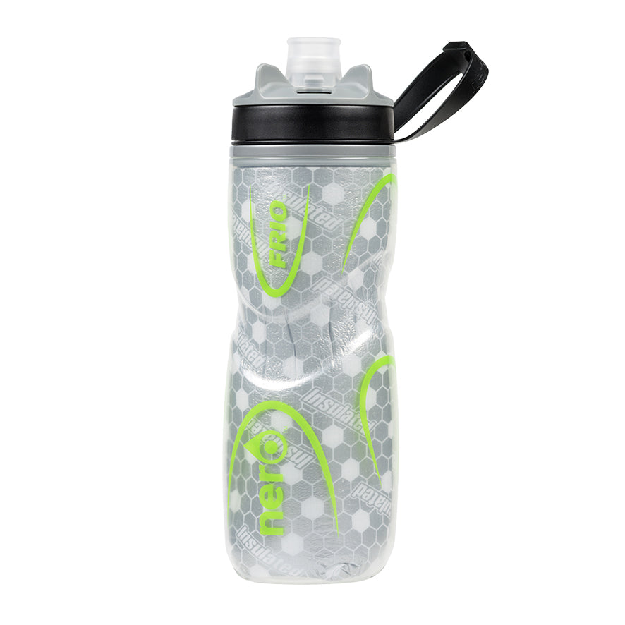 NERO Frio insulated Green Water Bottle 21 oz Negative