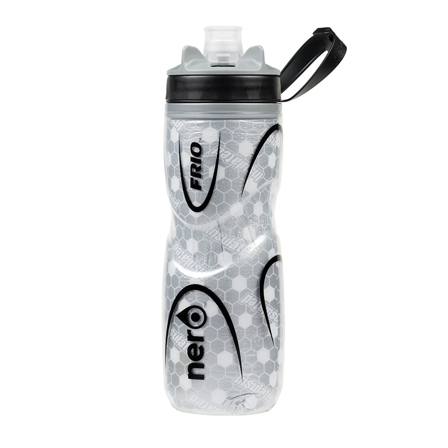 NERO Frio insulated Black Water Bottle 21 oz Negative
