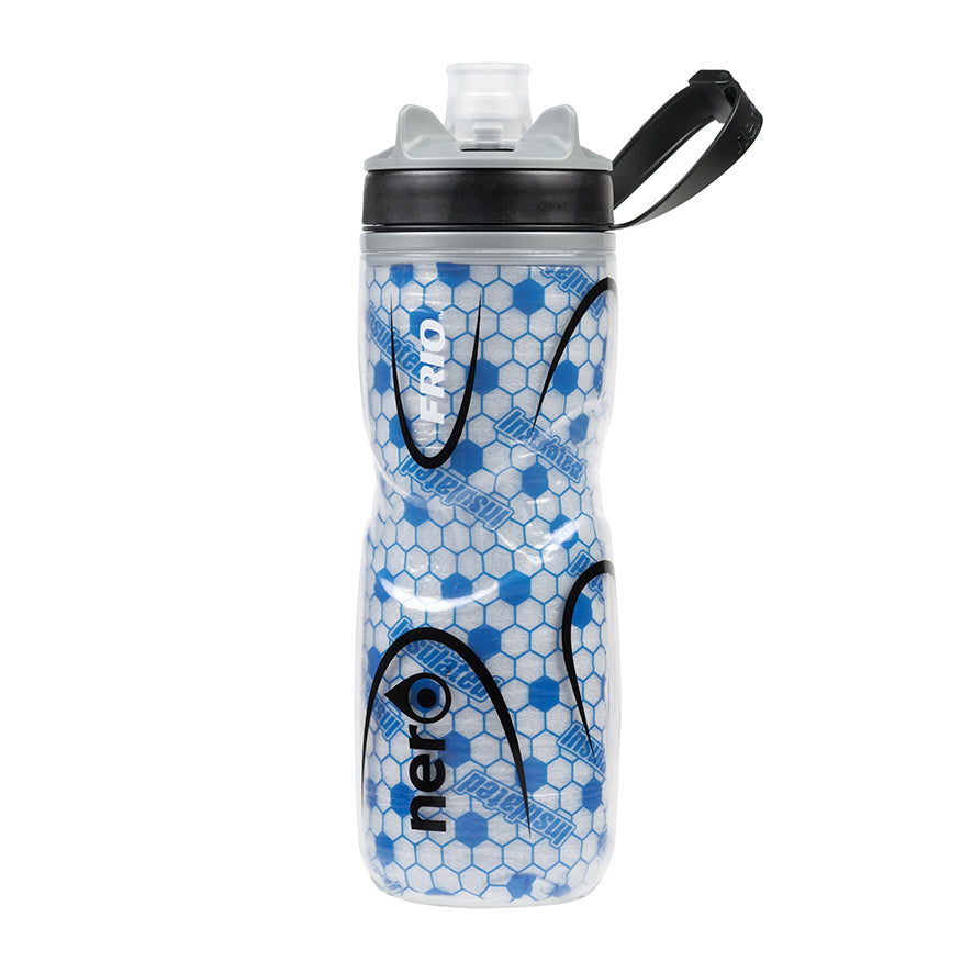 NERO Frio insulated Blue Water Bottle 21 oz Positive