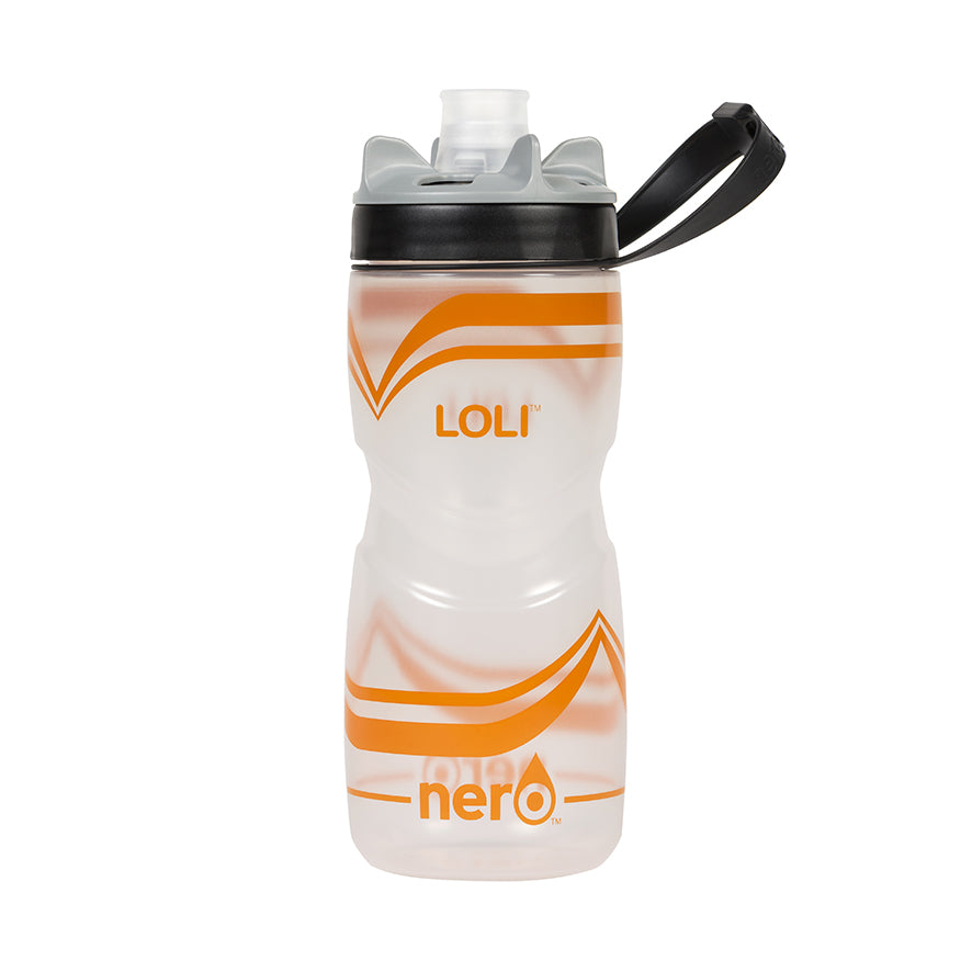 NERO Loli Orange Water Bottle 21 oz Transparent