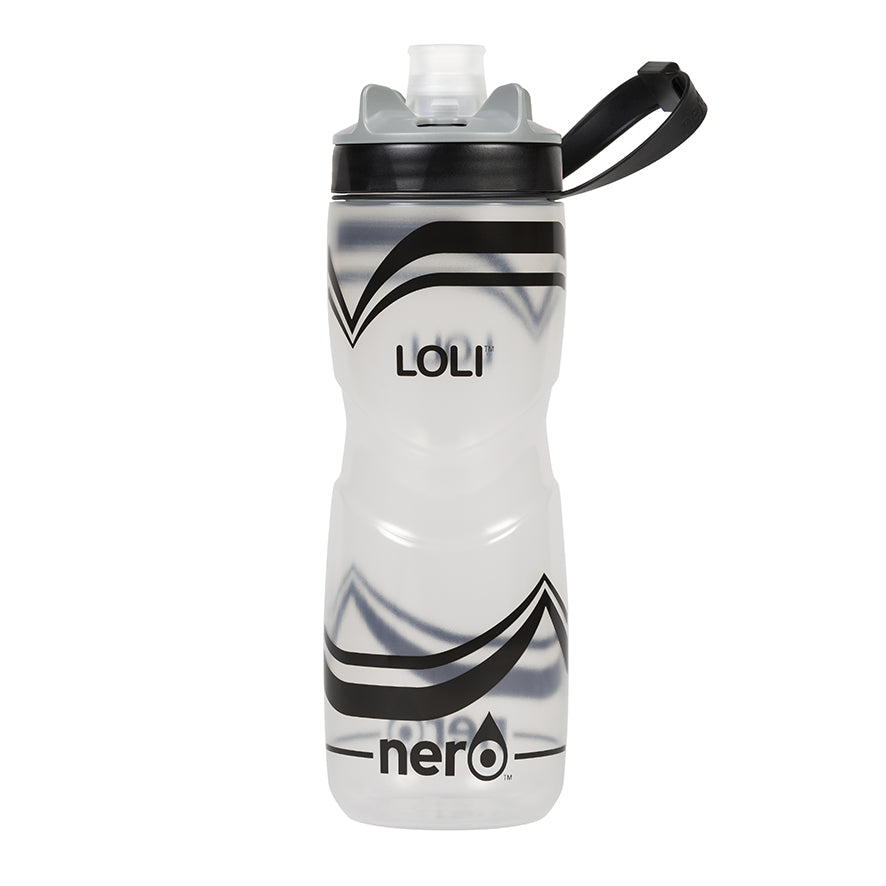 NERO Loli Black Water Bottle 25 oz Transparent
