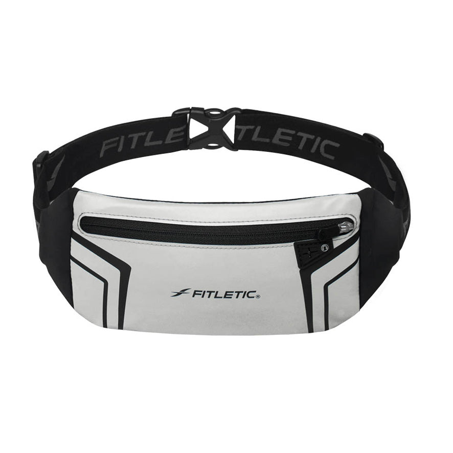 Fitletic Blitz Grey and Black Running Belt