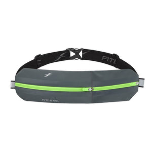 Fitletic Bolt Grey and Green Running Belt