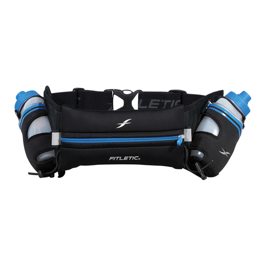 Fitletic Black and Blue Hydra 16oz Running Belt