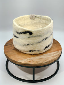 Felt Stripe Basket