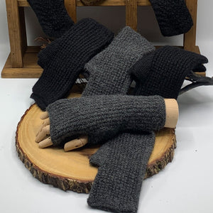 Men's - Fingerless Alpaca Gloves