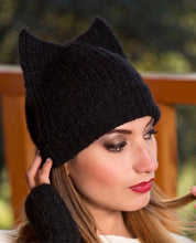 "Load image into Gallery viewer, Madison Alpaca ""Kitty - Ear"" Hat"