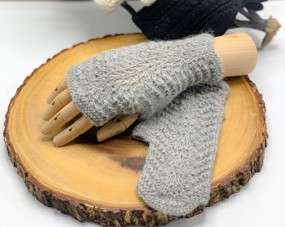 Lace Alpaca Fingerless Gloves