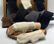 Load image into Gallery viewer, Lace Alpaca Fingerless Gloves
