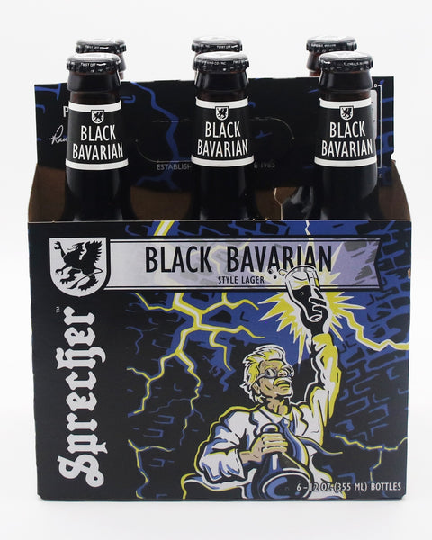 A 6-pack of Sprecher Black Bavarian.