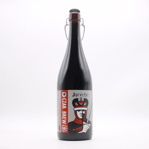 A 1-liter bottle of Sprecher's 3-year bourbon barrel aged czar brew.