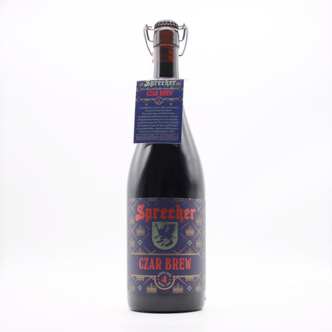 A 1-liter bottle of Sprecher's 4-year bourbon barrel aged czar brew.