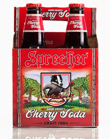 a 4-pack of Sprecher's Cherry Soda.