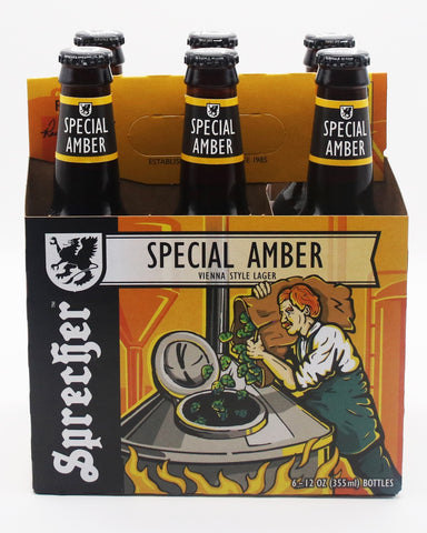 A 6-pack of Sprecher Special Amber.