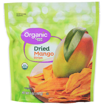 Great Value Organic Dried Mango Strips, 5 Oz.