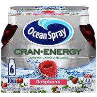 Ocean Spray Cran Energy Raspberry Juice, 10 Fl. Oz, 6 Count - Water Butlers